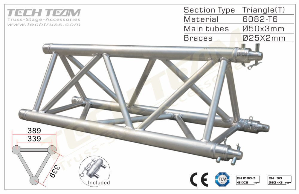 C40-TS25;Straight truss;389 Triangle