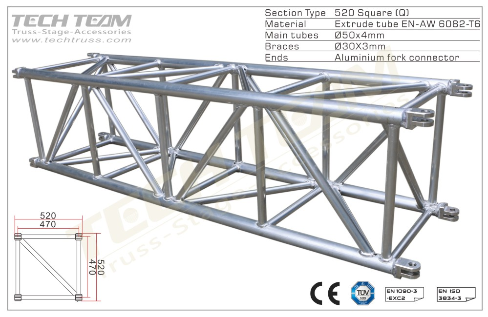 MD52-QS10;Straight truss;520 Square