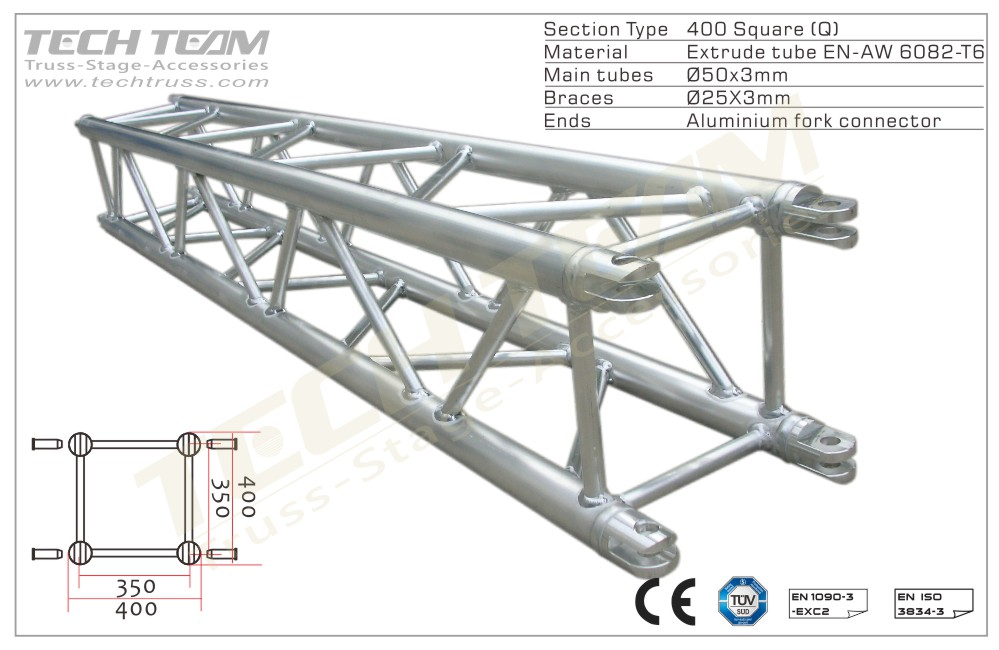 MC40-QS05;Straight truss;400 Square