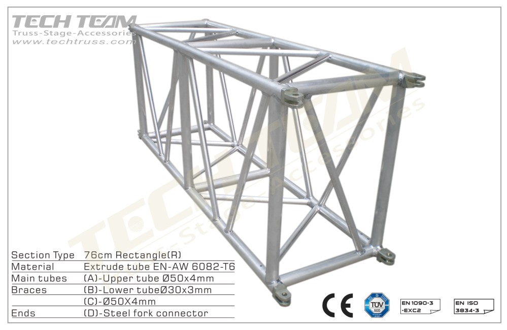MD76-RS05;Straight truss;760 Rectangle