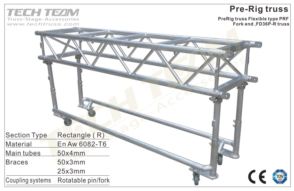 FD36P-RS122;Straight truss; 360 Pre-Rig Truss