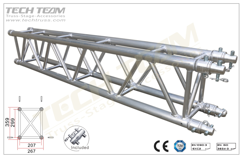 D36-RS25;Straight truss;359x267 Rectangle